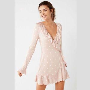*Donating 8/30* UO Long Sleeve Ruffle Wrap Dress